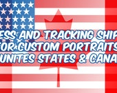 USA and CANADA - Upgrade to Express Shipping with DHL - Only for custom paintings (not art prints)