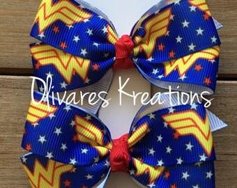 Wonder Woman Inspired Bow Set