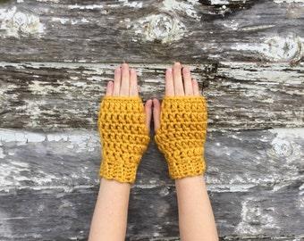 Fingerless Mitts Crochet Pattern, Fingerless Gloves Crochet Pattern, Make Your Own, Bulky Yarn Fingerless Gloves Crochet Pattern, DIY