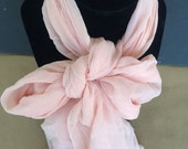 Vintage Pink in 100 percent rayon hand rolled scarf made in Japan