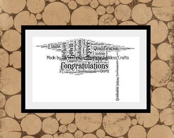 Graduation Word Art,Personalised Graduation Gift, Graduation Word Collage, Graduation Word Cloud, Graduation Gift, Graduation Keepsake.