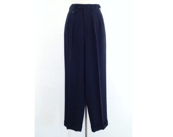 black baggy pants wide leg pants black pants high waisted pleated trousers womens