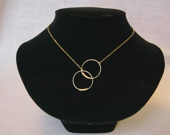 Interlocking Circles Gold Chain Necklace