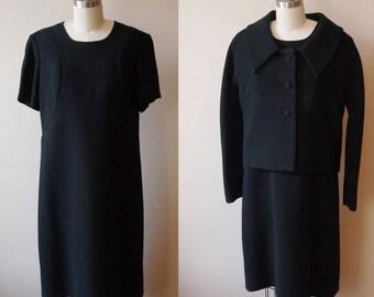 1960s Jackie O dress suit // neoprene dress // vintage dress