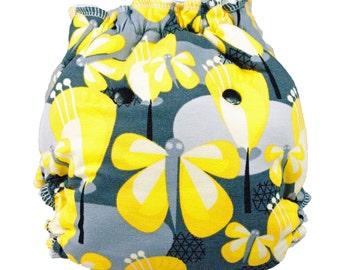 Hybrid Diaper, Fitted cloth diaper, cloth diaper, Butterfly diaper, cloth diaper gift, one size diaper, bamboo diaper