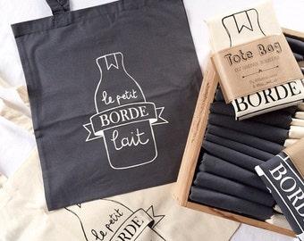 Tote Bag Le Petit Bordelait Graphite
