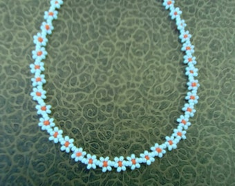 Beaded Daisy Necklace