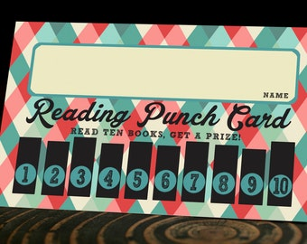 Printable Reading Punch Card
