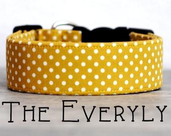 "Modern Mustard Vintage Inspired Dog Collar ""The Everly"""