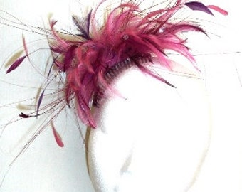 Feather Fascinator with crystals