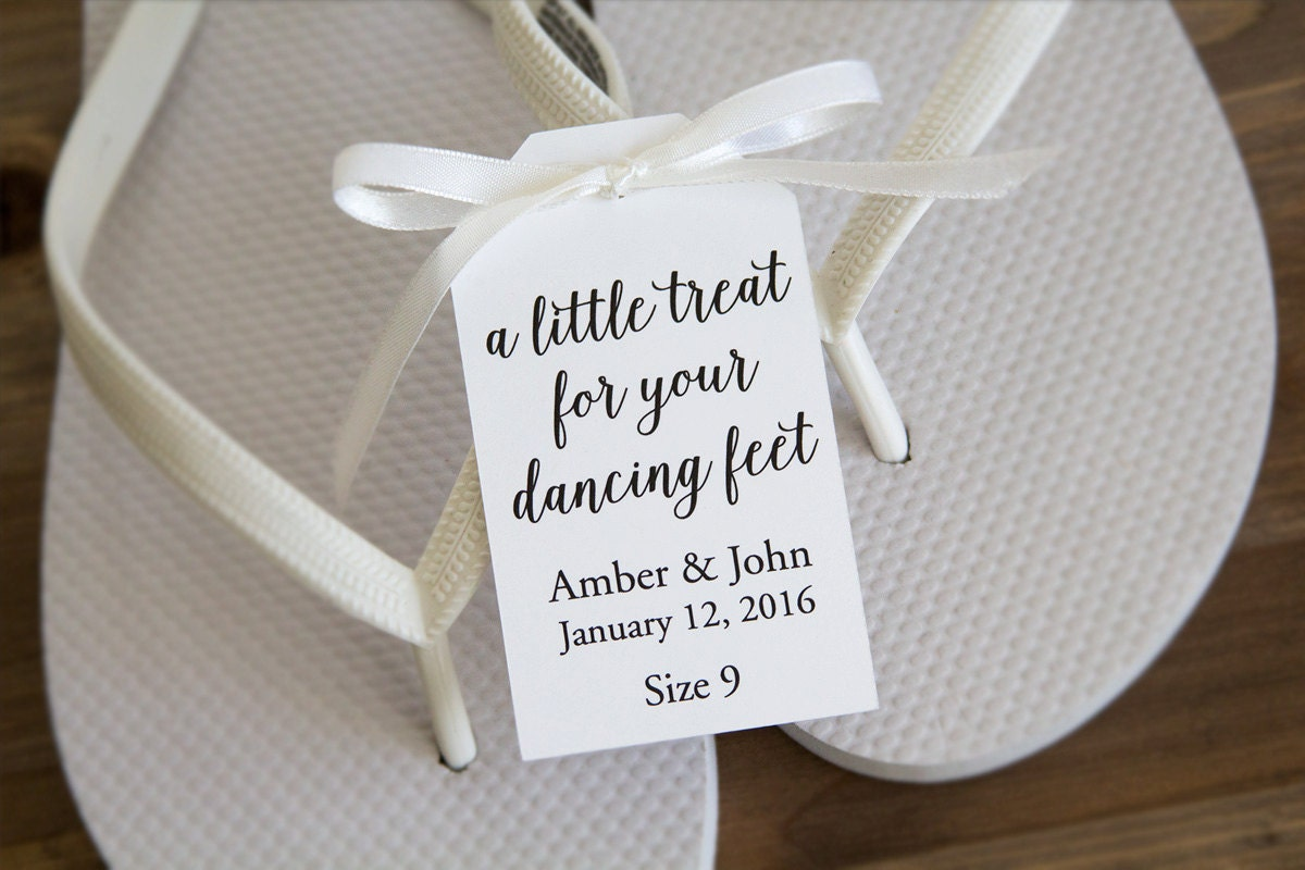 A little treat for your dancing feet Flip Flop Tags
