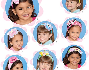 DARLING HeadBands and Bows Pattern by Simplicity 1820