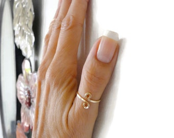Simple Gold Filled Thumb Ring For Women Handmade Jewelry Under 15