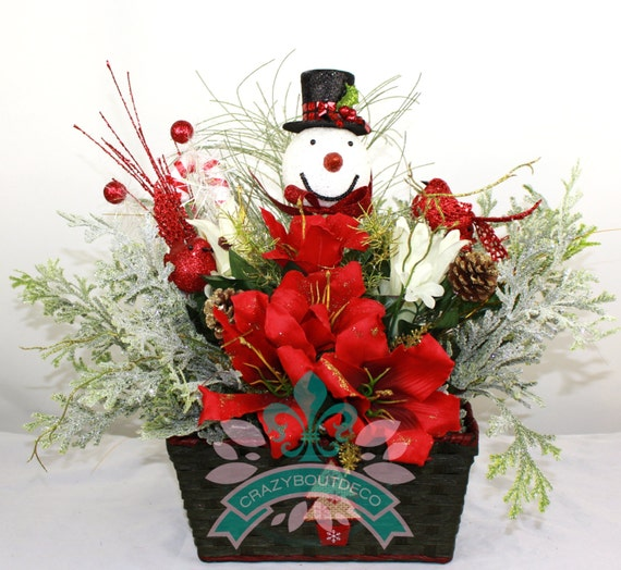 Beautiful christmas table centerpiece with by crazyboutdeco