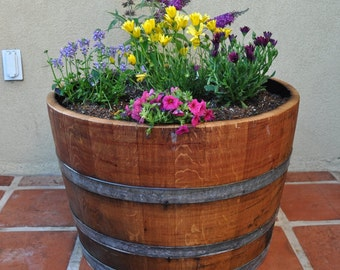 1/2  Planter Wine Barrel