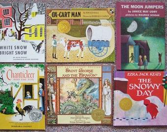 Caldecott Medal Winners - Lot of 12 Books - Barbara Cooney, Janis Udry, Donald Hall, Marcia Brown, James Thurber - Childrens, Teachers Books