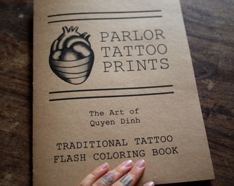 Traditional Tattoo Flash Coloring Book