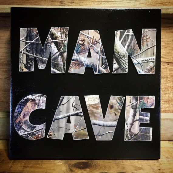 Man Cave Sign Gifts For Men Camo Camo Sign Gifts For Guys Home
