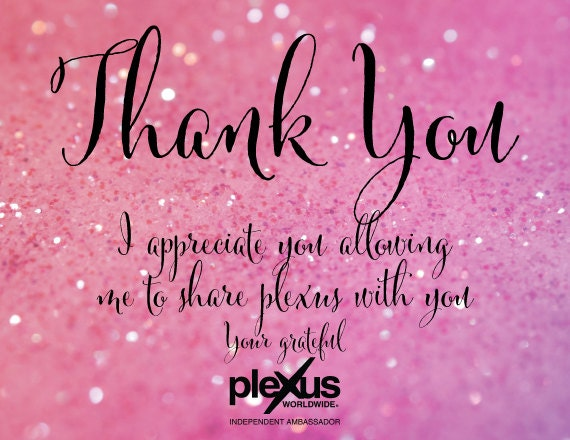 Plexus Thank You Card