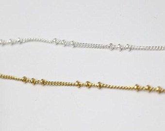 2 meter of beaded chain 1.5mm diameter 2mm beads you can choose color-9922
