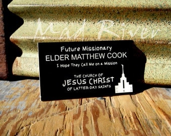 Personalized Future Missionary Name Tag with Magnetic fastener
