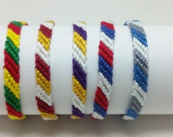 Minnesota sports team friendship bracelets, string friendship, Mn Twins, Mn Vikings, Mn Timberwolves, Mn Lynx, team colors