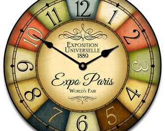 1889 Paris World's Fair Wall Clock