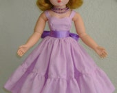"""Dotted Swiss sundress for 20"""" MA Cissy, Sweet Sue Sophisticate, Miss Revlon, Dollikins and other like dolls"""