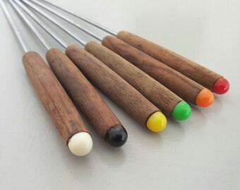 Fondue Forks Rainbow set of 6
