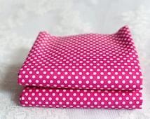 Fat Quarter | Polka Dot Spot | Cerise Pink | Dot Fabric | 100% Cotton