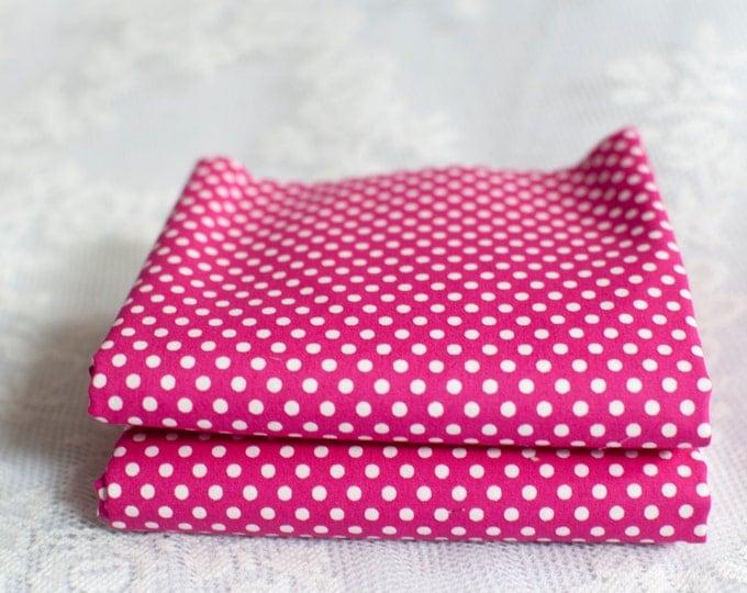 Featured listing image: Dark Pink Polka Dot Fat Quarter
