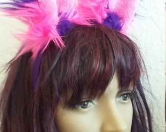 Jumbo Cheshire Cat tail, ears, leg fluffies and gloves
