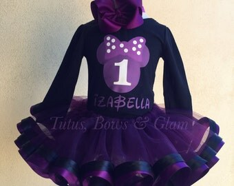 Minnie Mouse Ribbon Trimmed Tutu Set