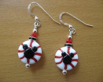 Mickey Earrings, Peppermint Earrings, Candy Earrings, Disney Earrings, Minnie Mouse, Disney Cruise, Christmas Earrings, Holiday Jewelry