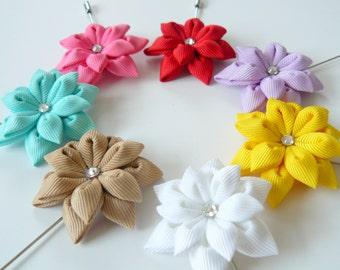 BUY 5 GET 1 FREE  Men's Flower Lapel Pin. Kanzashi flower brooch. Kanzashi flower lapel pin. Boutonniere lapel pin Wedding Boutonniere.