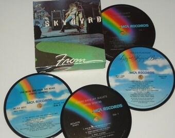 Lynyrd Skynyrd Coaster Set vinyl record coasters for drinks