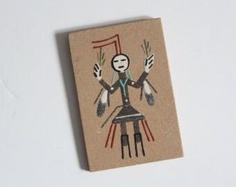 Vintage Southwestern Navajo Sand Painting