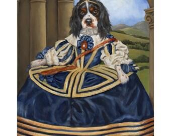 Cavalier Art, King Charles Art, Chloe Prints, Dog Print King Charles