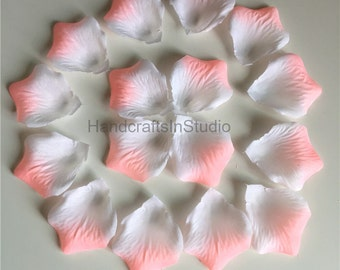 Peach Pink Rose Petals 1000 Blush Silk Flower Petals Wholesale For Birthday Party Bridal Shower Confetti Wedding Party Aisle Decor