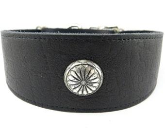 Soft Black Adjustable leather martingale collar