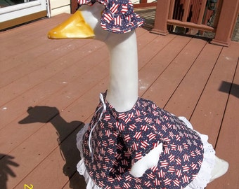 Goose Dress - Red, White and Blue with Stars