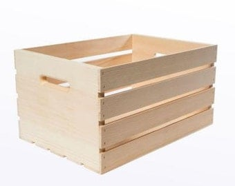 Wood Crate for Storage and Game Table for your Giant Jenga Block Game by Tumbling Timbers