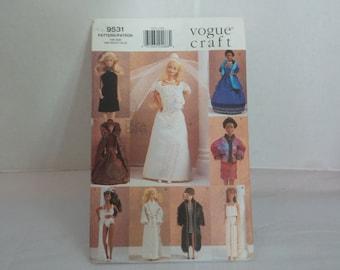 Vintage Vogue Craft Pattern for Barbie Dolls #9531