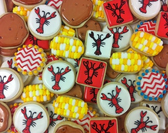 Mini crayfish boil cookies