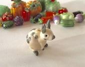 Little bunny's Harvest Garden glass lampwork bunny bead