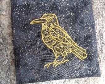 Embroidered Spirit Raven Magical Purpose Bag