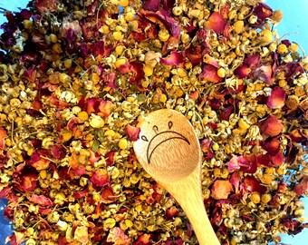 Cleopatra Herbal Tea-rose, mint, and chamomile, organic, vegan