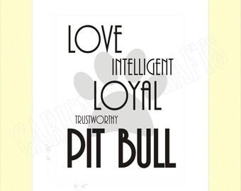 Pit Bull Digital Print