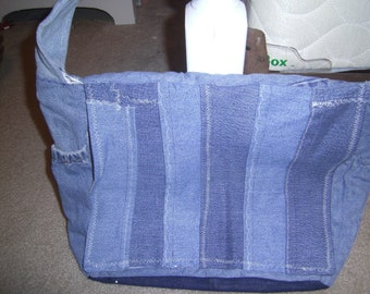 Denim carry all organizer messenger bag diaper bag purse