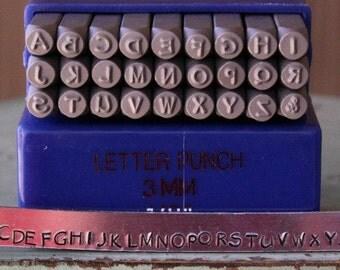 3mm Papyrus Font Uppercase Alphabet Letter Stamp Set - Metal Stamp Set - Metal Stamping And Jewelry Tool - SGE-15U